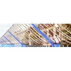 Заграда Єгоза плоска ПББ-600 2.2/3.2мм 6м плоский бар`єр безпеки