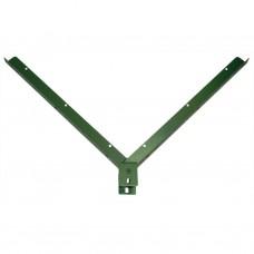 Кронштейн V–образный ОЦ+ППЛ на профиль 60х40 для крепления колючей проволоки