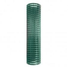 Сетка сварная Премиум ячейка 50х50мм ø2.2 оц+ПВХ высота 1.5м длина 10м