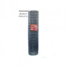 Сетка сварная оцинкованная ячейка 50х25мм ø1.6оц высота 1.0м длина 30м